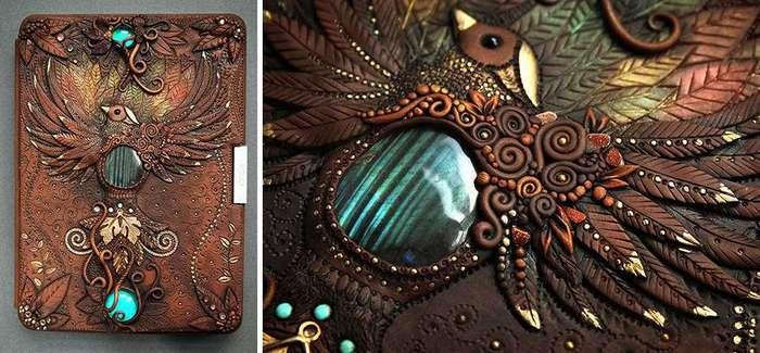 Волшебные обложки блокнотов из полимерной глины