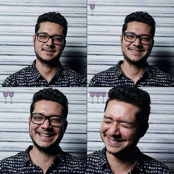 Все оттенки пьяного: лицо до и после пары бокалов