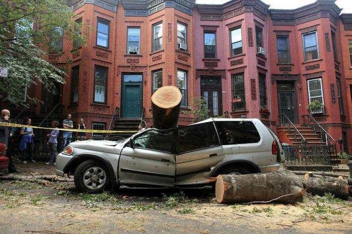 Торнадо в Нью-Йорке (17 фото)