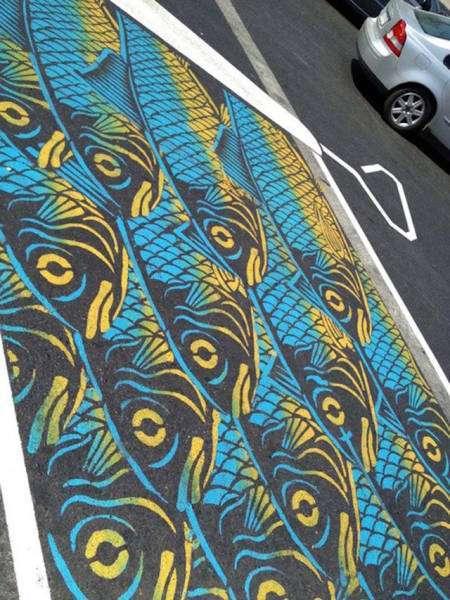 Великолепный стрит-арт на дорогах Монреаля (34 фото)