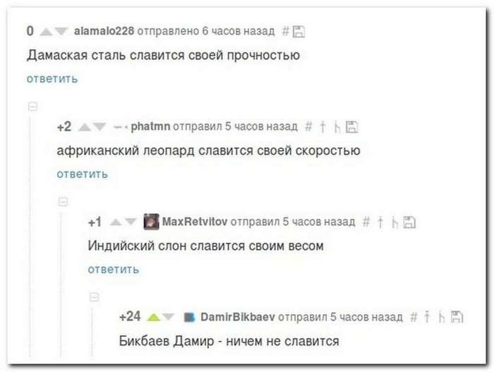 Комментарии, цитаты и приколы из сети