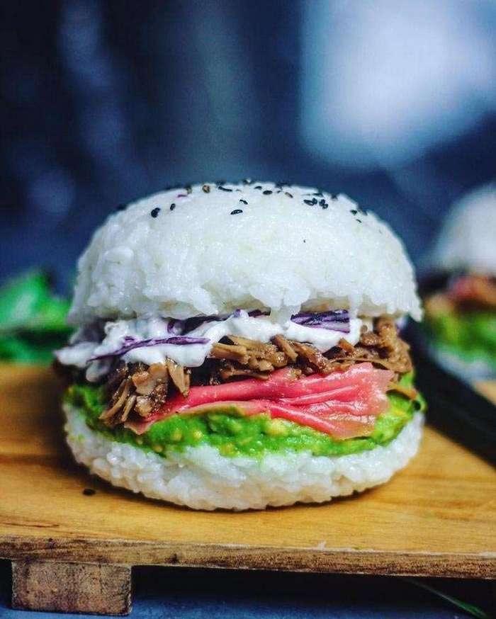 Суши-бургеры или новое извращение, придуманное веганами (6 фото)