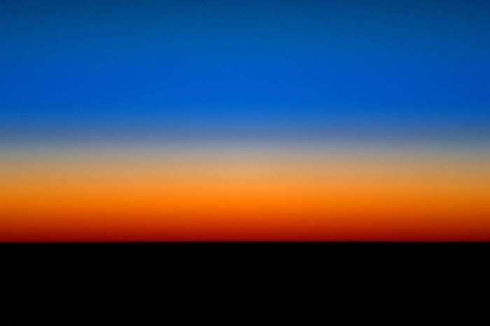 Восход с МКС