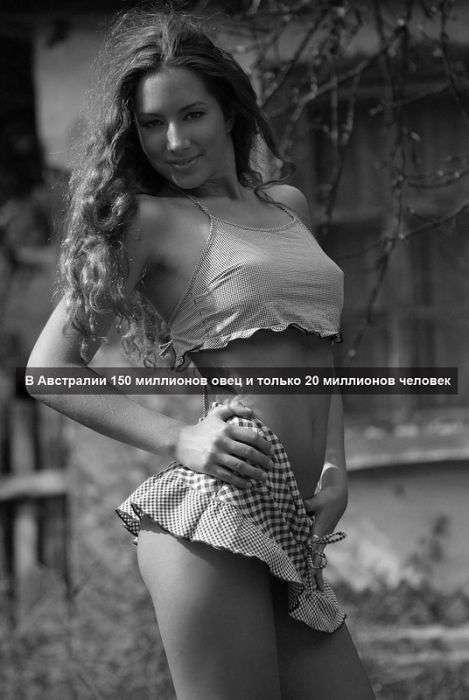 Факты на фоне девушек (75 фото)