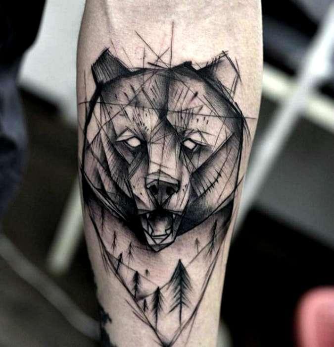 Grizzly bear skull tattoo - digitalspace info