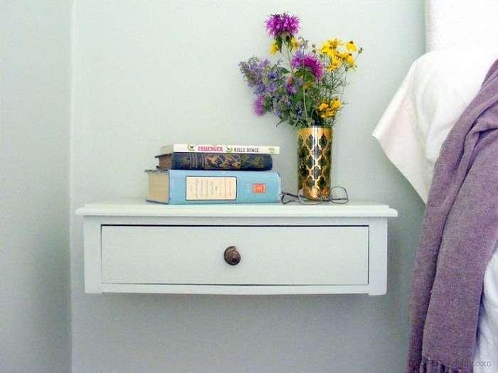 Гениальные полки: экономия пространства в комнате при помощи простых идей