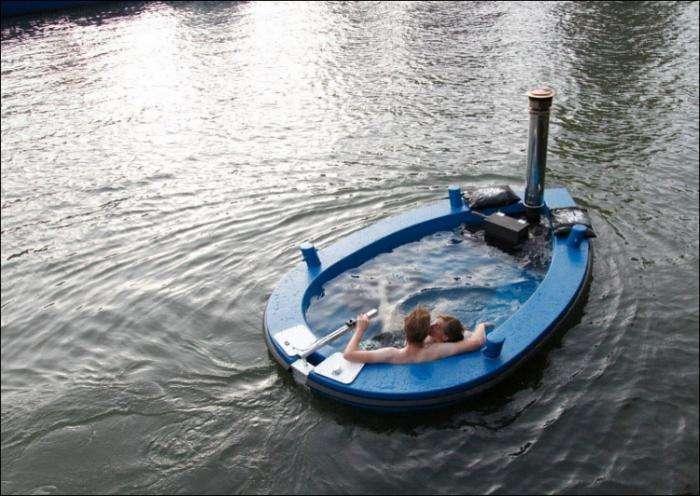 Плавающая горячая ванна (8 фото)