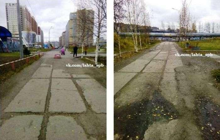 Наконец-то чиновники научились нормально ремонтировать дороги в Фотошопе