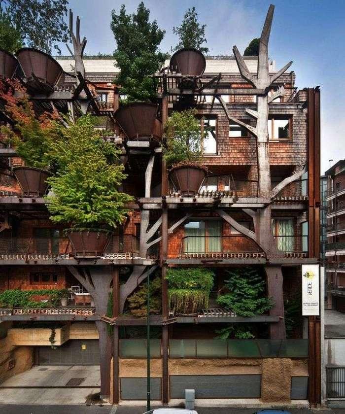 Деревья были раньше: 17 домов, доказывающих что не обязательно рубить деревья, чтобы что-нибудь построить (32 фото)