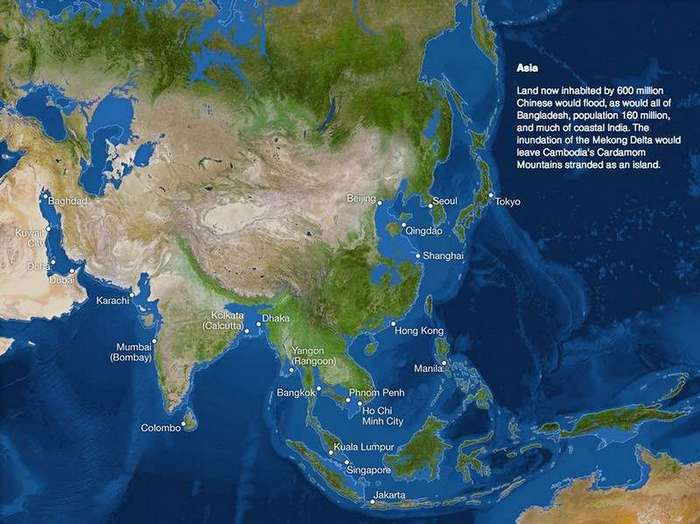 Как будет выглядеть Земля,если растает весь лед? (8 фото)
