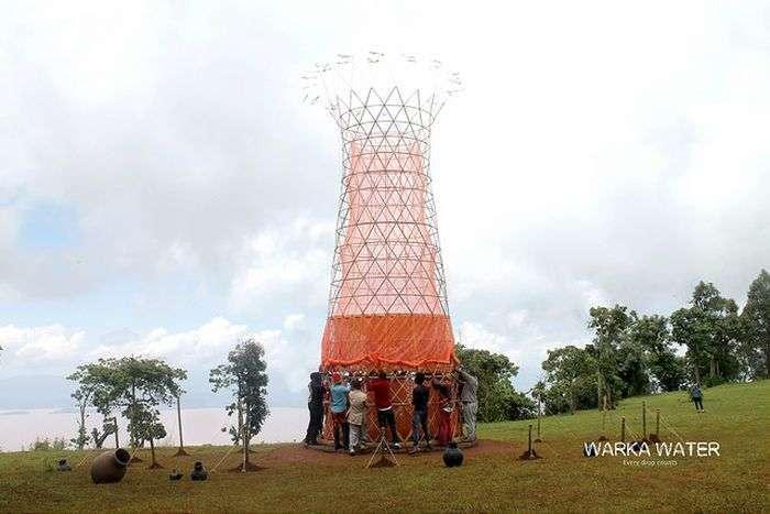 В Африке собирают пресную воду из воздуха (6 фото)