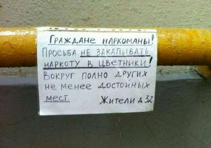 Забавные объявления для соседей