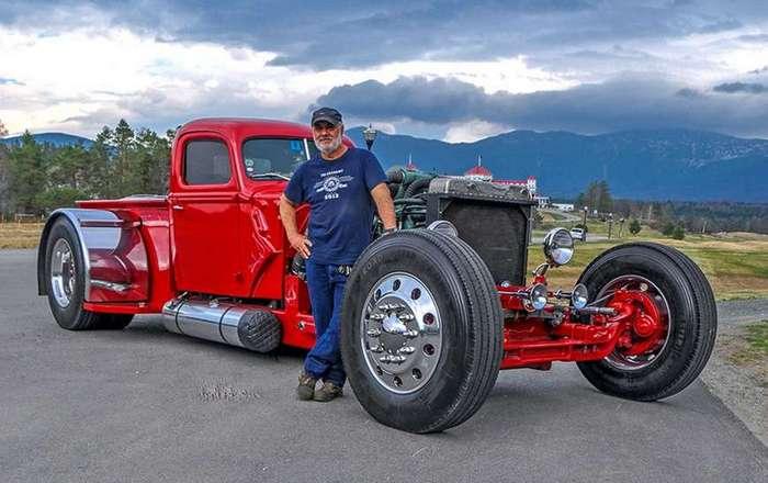 Американец собрал огромный хотрод из грузовика