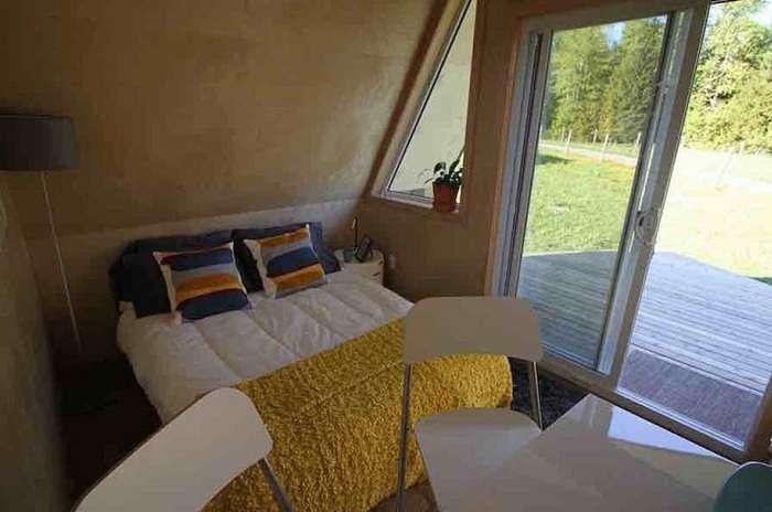 Всего 9,6 кв. метров: домик для комфортного отдыха на выходных
