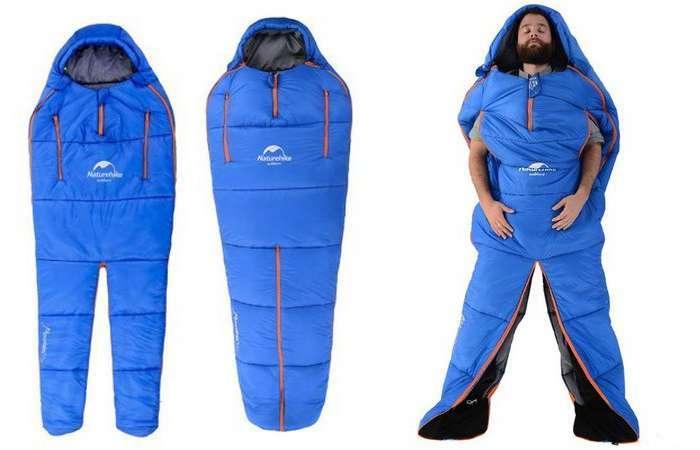 Суперудобный спальный мешок, который повторяет очертания тела человека