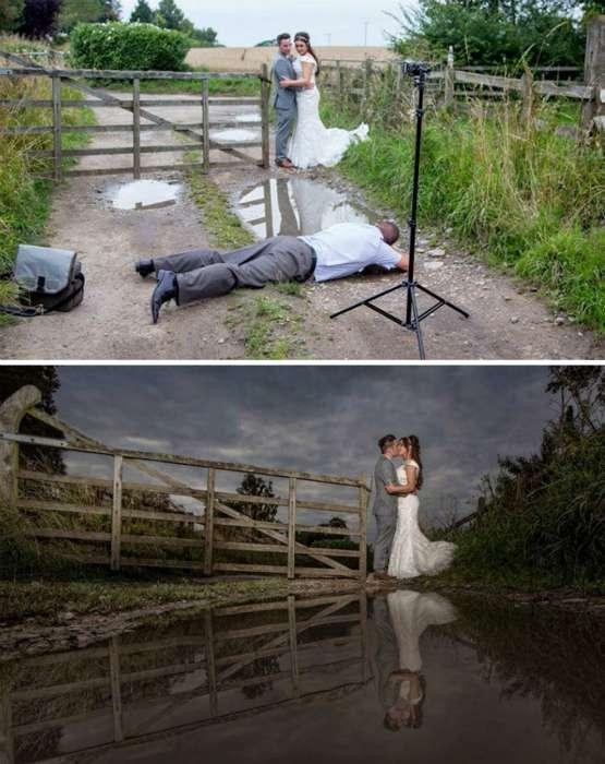 16 забавных снимков об уловках и хитростях, на которые идут фотографы ради хорошего снимка