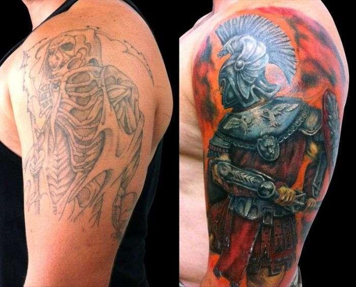 Исправление нежелательных татуировок (20 фото)