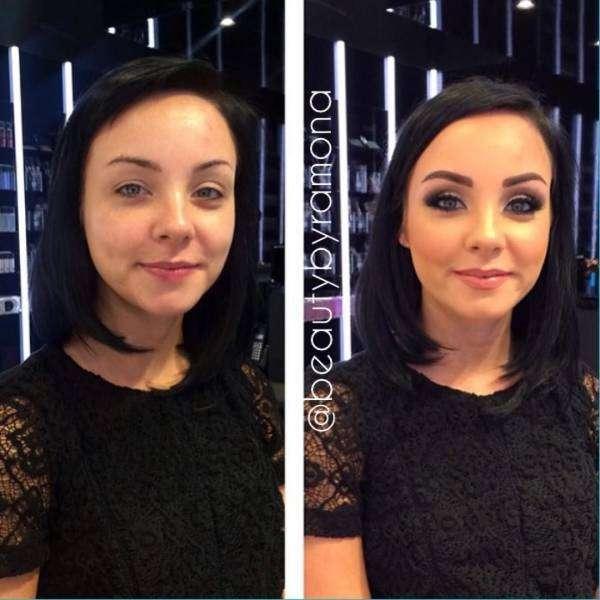 Преображения при помощи макияжа (32 фото)