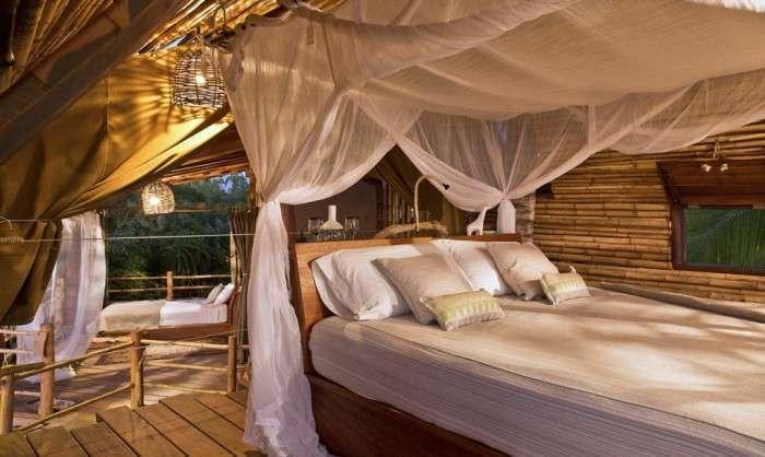 Райское место для отдыха: бамбуковый дом на дереве (6 фото)