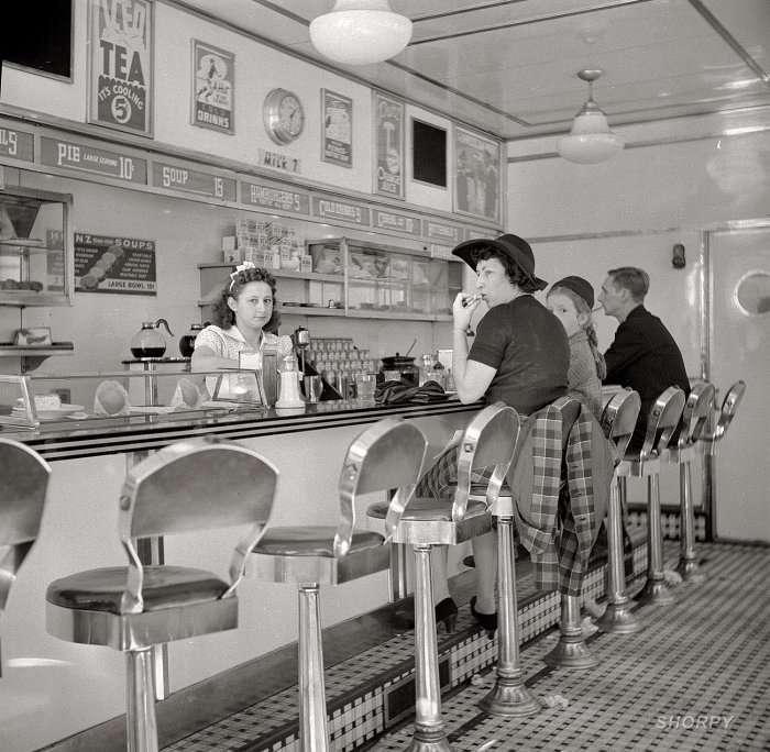 Вкус десятилетия: американские кафе и рестораны 40-х годов ХХ-го века (30 фото)