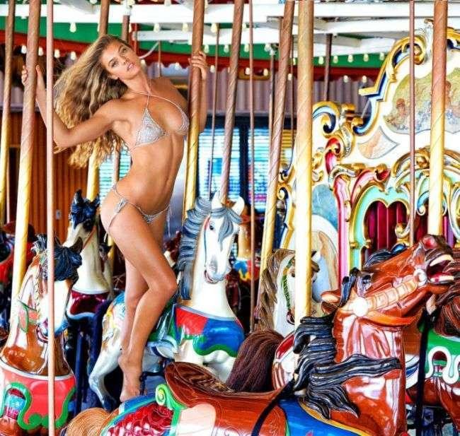 Девушка Леонардо Ди Каприо модель Нина Агдал снялась для журнала Sports Illustrated