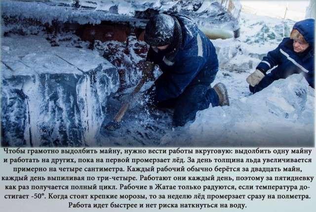 Как вымораживают суда в якутском поселке Жатай (20 фото)