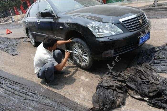 Плохой китайский асфальт (11 фото)