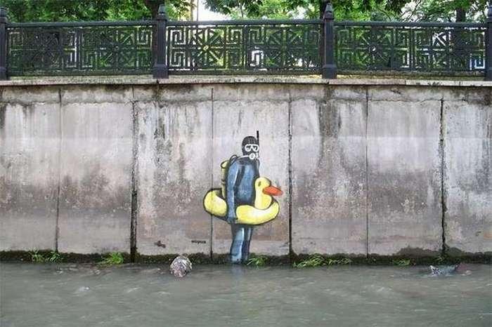 Граффити от Шарика — крымского Бэнкси