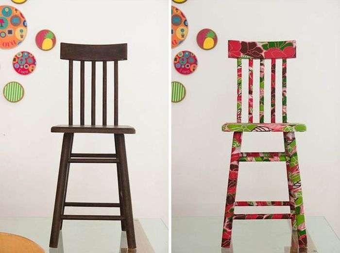 Новая жизнь старого стула: 7 удивительных примеров «до» и «после»