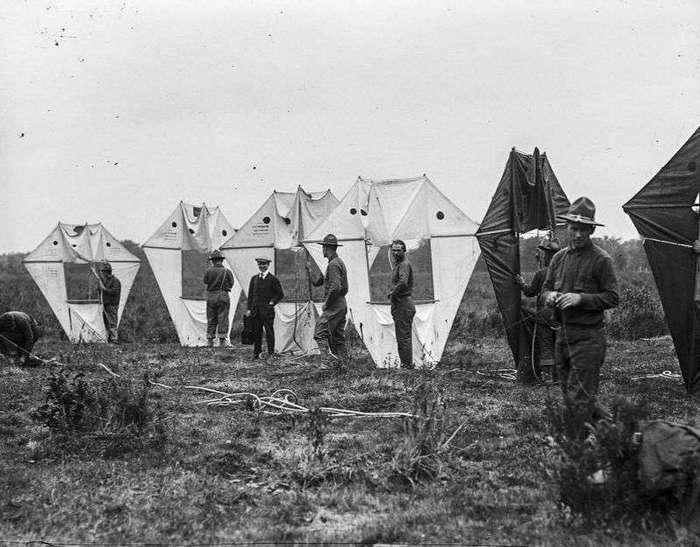 Разведчики на воздушных змеях времен Первой мировой войны
