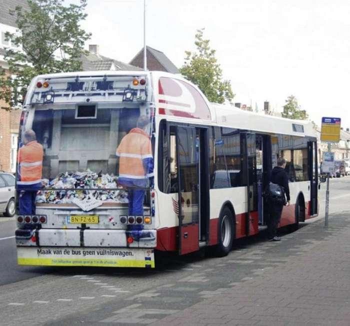 Самая креативная реклама на автобусах