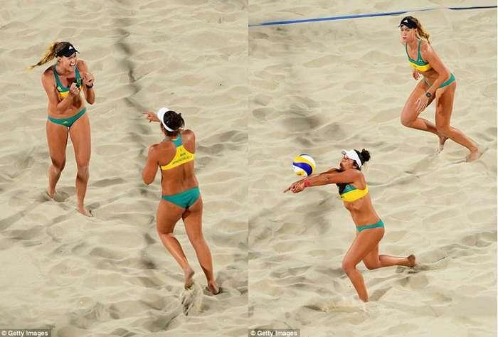Горячий женский пляжный волейбол на Олимпиаде в Рио-де-Жанейро