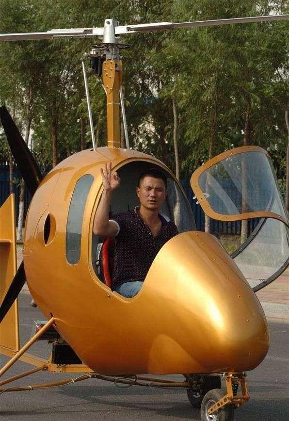 Конструктор-аматор из китайского села соорудил собственный вертолет (4 фото)