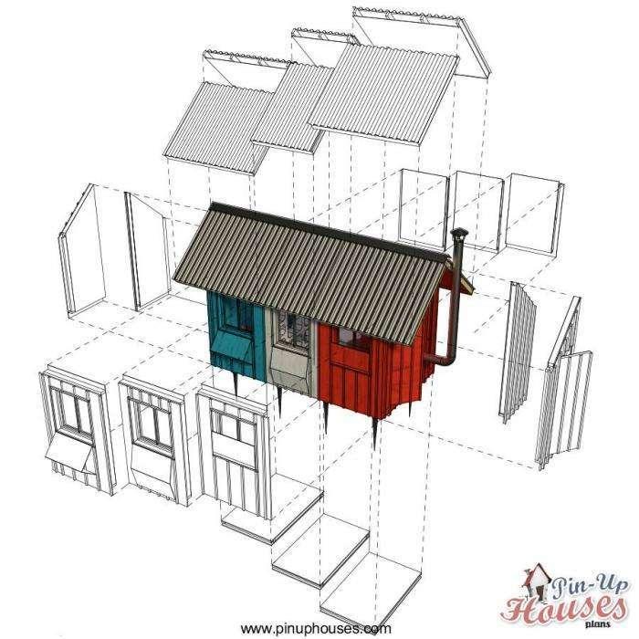 Чешский архитектор создал сборный домик всего за 1200 долларов (13 фото)
