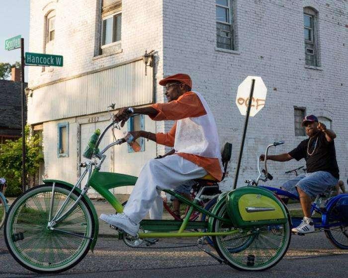 Крутые велобайкеры Детройта (9 фото)