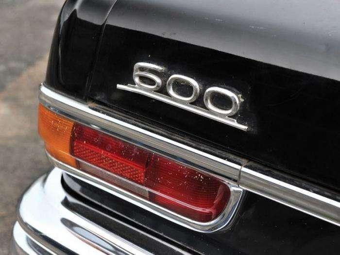 Mercedes-Benz 600 Pullman Landaulet - шестидверный автомобиль для диктатора (11 фото)