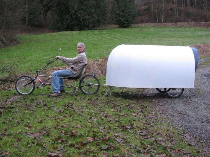 Американец построил велодом, чтобы путешествовать по стране (11 фото)
