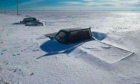 Машины в снегу (13 фото)