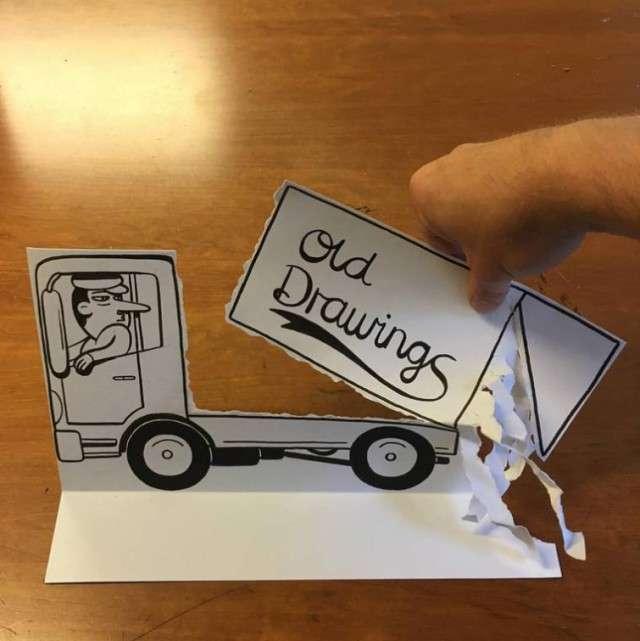 Потрясающие 3D-рисунки на обычной бумаге (24 фото)
