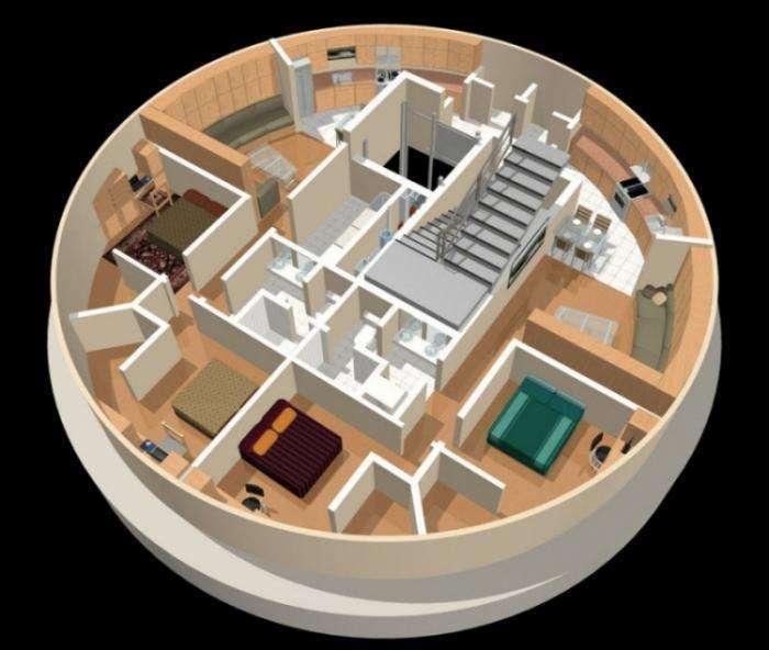 Подземный многоквартирный бункер (17 фото)