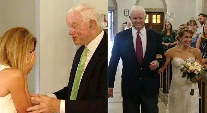 Невесту повел к алтарю мужчина, которому пересадили сердце ее покойного отца (5 фото)