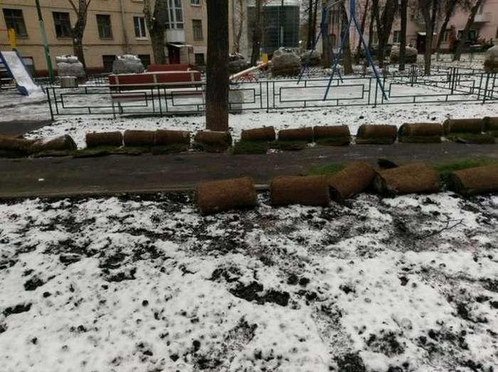 Что нам снег, что нам зной… Благоустройство двора от ЖКХ
