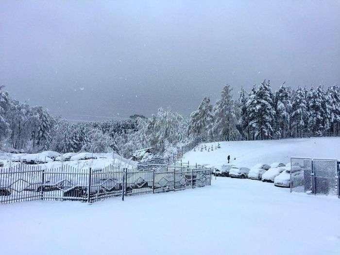 Последствия сильного снегопада в Красноярске (17 фото)
