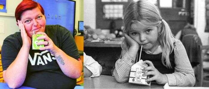 Британская молодежь 70-х - 80-х тогда и сейчас (16 фото)