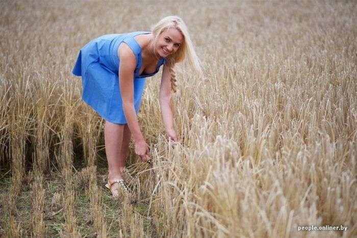 Полевая фотосессия белорусских красавиц