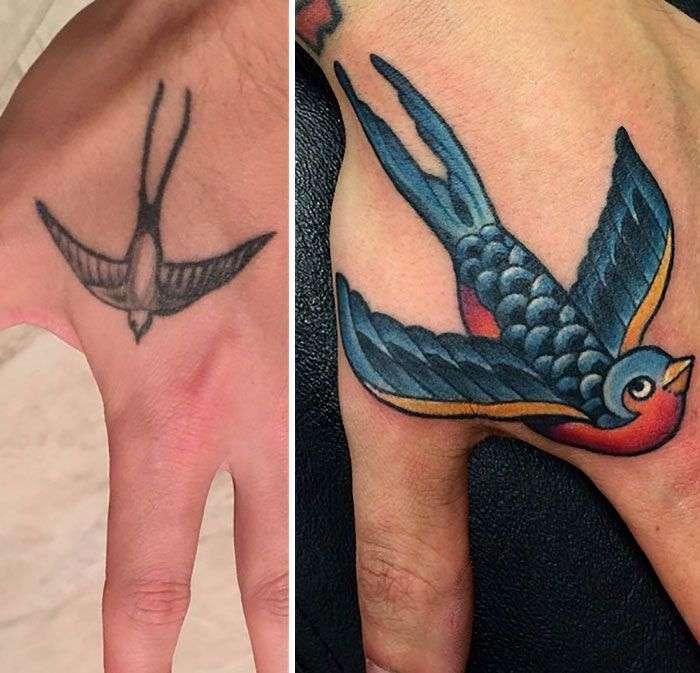 Исправленные татуировки (30 фото)