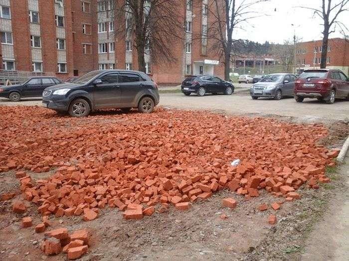 Необычная парковка от удмуртских строителей