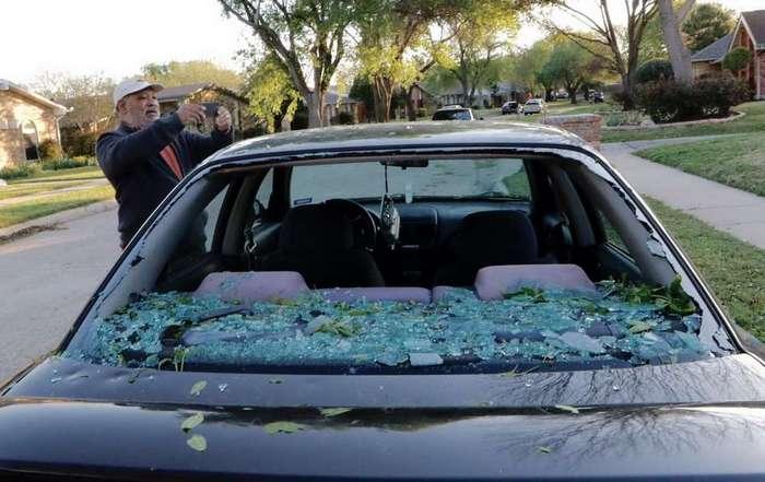 В Техасе выпал массивный град (11 фото)