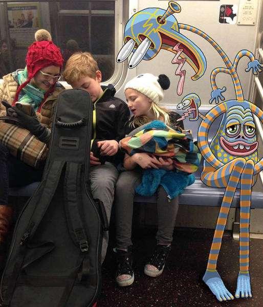 Монстры в нью-йоркском метро (45 фото)