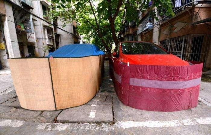 Как китайские водители защищают свои авто от крыс (8 фото)